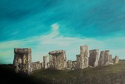 Mystery Pastels Posters - Stonehenge Poster by Tracey Mitchell
