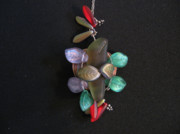 Wrapped Jewelry - Stones and Leaves by Judith Z Miller