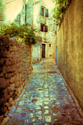 Small Town Acrylic Prints - Stones and walls Acrylic Print by Jasna Buncic
