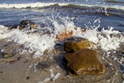 Water Image Posters - Stones on the beach Poster by Heiko Koehrer-Wagner