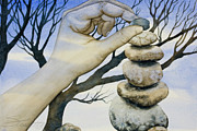 Tree Art Prints - Stones Print by Sheri Howe