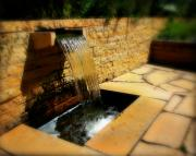 Fountain Photograph Posters - Stonewall fountain  Poster by Perry Webster