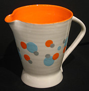 Retro Ceramics - Stoneware Pitcher by Amy Mangis
