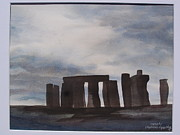Historic Site Paintings - Stonhenge England by Carol Marcus