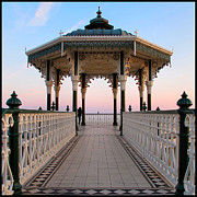 Gazebo Framed Prints - Stood Up At The Bandstand Framed Print by Gary Jones
