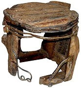Weathered Sculptures - Stool by Artist Group of Gallery Kolkata