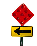 Traffic Sign Photos - Stop and turn street sign by Blink Images