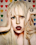 Lady Gaga Painting Prints - Stop Calling Stop Calling Print by Nicholette  Haigler