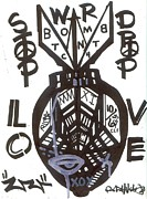 Post Modern Mixed Media - Stop Drop Love by Robert Wolverton Jr