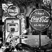 Hackberry General Store Posters - Stop for gas and drink Poster by Hideaki Sakurai
