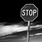 Black-and-white Photo Posters - Stop Poster by James Bull