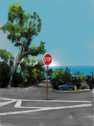 Stop Sign Digital Art Posters - Stop Poster by Russell Pierce