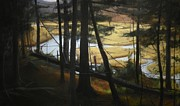 Beaver Pond Paintings - Stop Shut up Look and Listen by Stephen Remick
