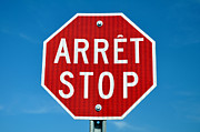 Quebec Art - Stop sign. by Fernando Barozza