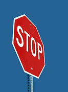Stop Sign Digital Art Posters - Stop Sign Poster by Glennis Siverson