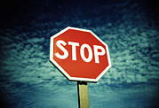 Stop Sign Prints - Stop Sign Print by Kevin Curtis