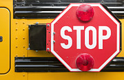 Stop Sign On School Bus Print by Andersen Ross