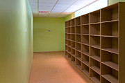 Grade School Prints - Storage Room With Cubbyholes Print by Jaak Nilson