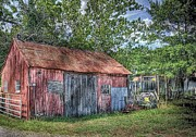 Red Roof Photo Originals - Storage Shed by Arnie Goldstein