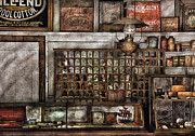 Grocery Stores Posters - Store - For all of your needs and supplies Poster by Mike Savad