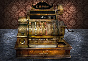 Vintage Cash Register Framed Prints - Store - They dont build them like this anymore  Framed Print by Mike Savad