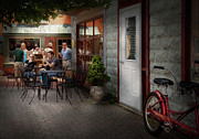Grocery Store Prints - Storefront - Frenchtown NJ - At a quaint Bistro  Print by Mike Savad