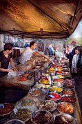 Open Market Metal Prints - Storefront - The open air Tea and Spice market  Metal Print by Mike Savad