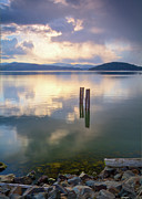 Coeur Posters - Storm across the Bay Poster by Idaho Scenic Images Linda Lantzy