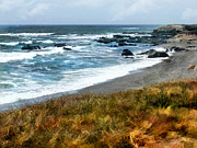 Cambria Paintings - Storm Approaching Along the Central California Coast by Elaine Plesser