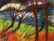 Unique View Pastels Posters - Storm Approaching Fast Poster by John  Williams