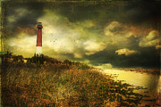 Storm At Barnegat Lighthouse Print by John Rivera