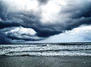 Barbara Middleton Metal Prints - Storm at sea Metal Print by Barbara Middleton