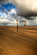 Talacre Digital Art Framed Prints - Storm Brewing Framed Print by Adrian Evans