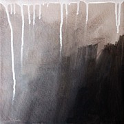 Grey Mixed Media - Storm Brewing by Linda Woods