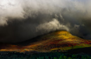 Golden Rain Posters - Storm Brewing Over Hawkshead Poster by Meirion Matthias