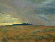 Stormy Weather Paintings - Storm Cell Over Foxears Mountain by Phyllis Tarlow