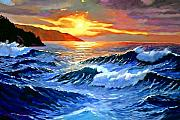 Storms Paintings - Storm Clouds - Catalina Island by David Lloyd Glover