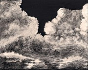 Storm Drawings - Storm Clouds 1 by Elizabeth Lane