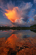 Claudia Domenig Prints - Storm Clouds at Dawn Print by Claudia Domenig