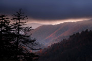 Smokies Prints - Storm Clouds at Sunrise Print by Andrew Soundarajan