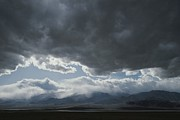 Panamint Valley Posters - Storm Clouds Brew Over The Panamint Poster by Gordon Wiltsie
