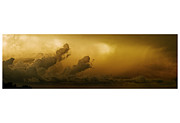 Storm Pyrography Prints - Storm Clouds Print by Miles Schuster
