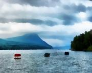 Storm Digital Art Prints - Storm Clouds on the Lake Print by Anthony Caruso