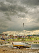 Norfolk; Prints - Storm Clouds over Blakeney Print by Chris Thaxter