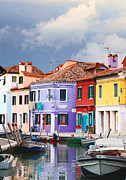 Stormy Weather Posters - Storm clouds over Burano Poster by Paul Cowan