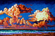 Storm Clouds Painting Originals - Storm Clouds Over Florida by John Lautermilch