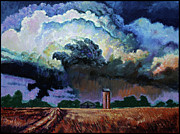 Storm Clouds Painting Originals - Storm Clouds Over Joplin by John Lautermilch