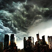 Midtown Art - Storm Clouds Over Midtown, New York, Ny by Arnab Mukherjee