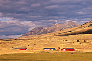 Barn Storm Prints - Storm Clouds over Montana Print by Bob and Nancy Kendrick
