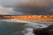 Kernow Photos - Storm Clouds Over Polzeath by Carl Whitfield